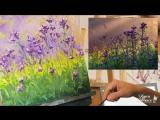 Рисуем красивые полевые цветы маслом. Арт-студия Алексея Жукова