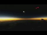 Затмение с видом из самолета