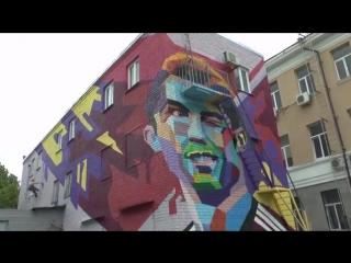 Как создавали граффити-подарок для Криштиану Роналду в Казани