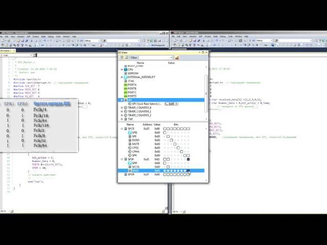 SPI интерфейс на микроконтроллере урок 18