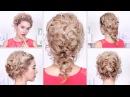 Празднычные причёски на Новый Год, свадьбу, выпускной с плетением на средние/дли
