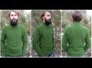 Вязание мужского свитера с косами и жемчужным узором