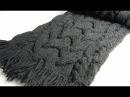 Вязаный шарф спицами с широкой косой и рельефными жгутами Вязаные шарфы спицами