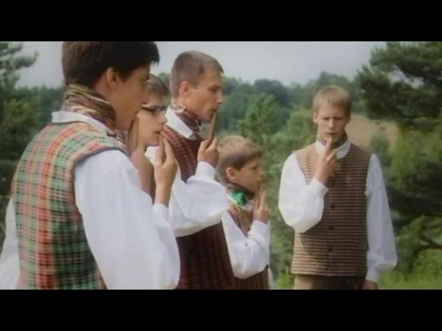 Lithuanian polyphonic panflute folk tune   Instrumentinė sutartinė - Skudutis po du kartu