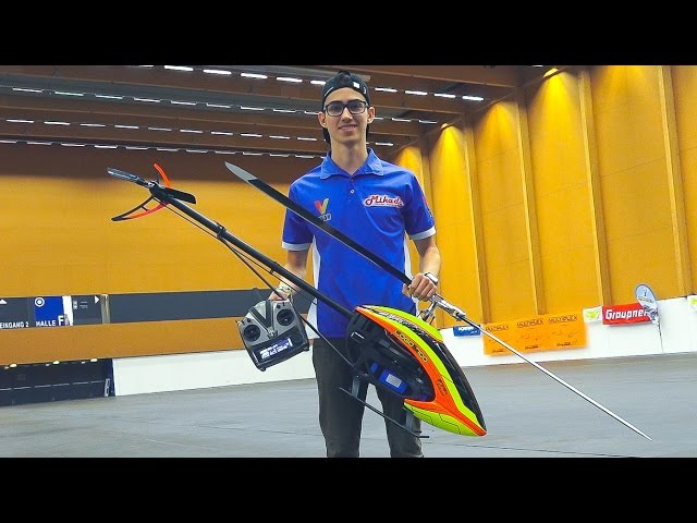 GREAT RC MODEL HELICOPTER 3D INDOOR FLIGHT!! MIRKO CESENA WITH MIKADO LOGO 700