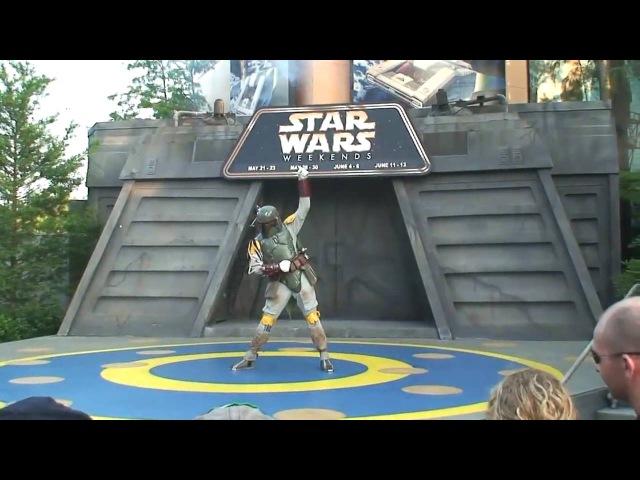 Boba Fett dances to Michael Jackson and Lady Gaga at Disney's Star Wars Weekends 2010