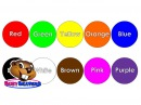 Цветная песенка КЛИП Учите цвета по английски Учите цветам Цвета для детей