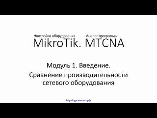 Настройка оборудования MikroTik. 12 Сравнение производительности сетевого оборудов ...
