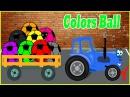 Мультики синий трактор Цветные мячи Мультик про цвета Учим Цвета для Детей Разв ...