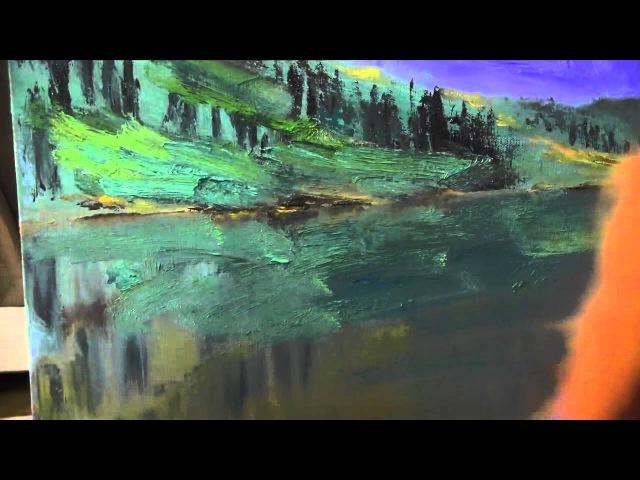 Горный пейзаж, художник Сахаров