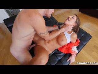 [BangBrosClips] August Ames (Gets Caught Masturbating/Красивая в униформе трахается с другом)[Group-Инцест,Taboo,All sex +18]