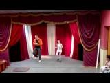 Танец с учителем))))