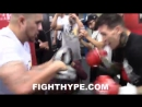 GABRIEL ROSADO GETS AMPED UP BY FERNANDO VARGAS; PUTS HANDS ON DISPLAY AHEAD OF GUTIERREZ CLASH