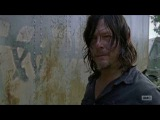 The Walking Dead 7x10 Daryl &amp Richard Fight Over Carol