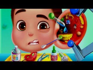 Детская Неотложка/Kids Emergency Doctor.Играем в Доктора.Лечим Ухо Горло Нос.Мультик Игра