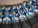 Как рассчитать складки на юбке из ткани с рисунком