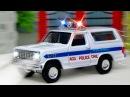 Цветные Грузовик Полицейская и Пожарная Машина - Мультики про Машинки