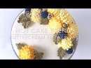 HOT CAKE TRENDS 2016 Buttercream chrysanthemums and berries cake How to make by Olga Zaytseva