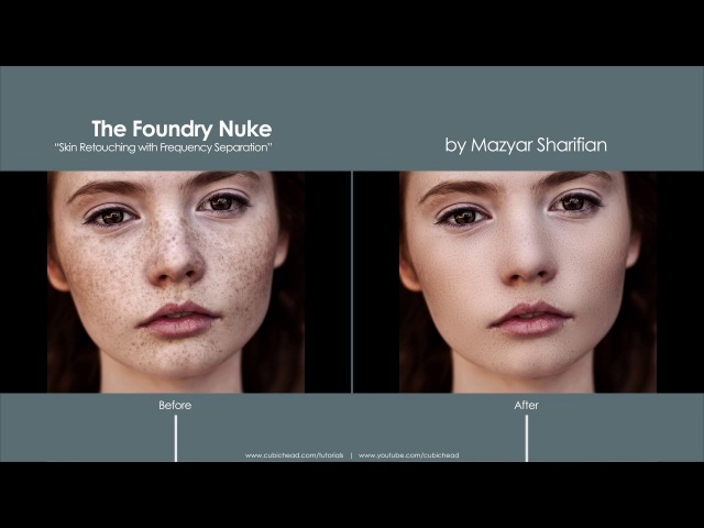 Skin Retouching in Nuke using Frequency Separation