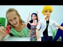 Мультики для девочек ЛедиБаг и Супер Кот Маринетт делает покупки к школе! Видео про кукол