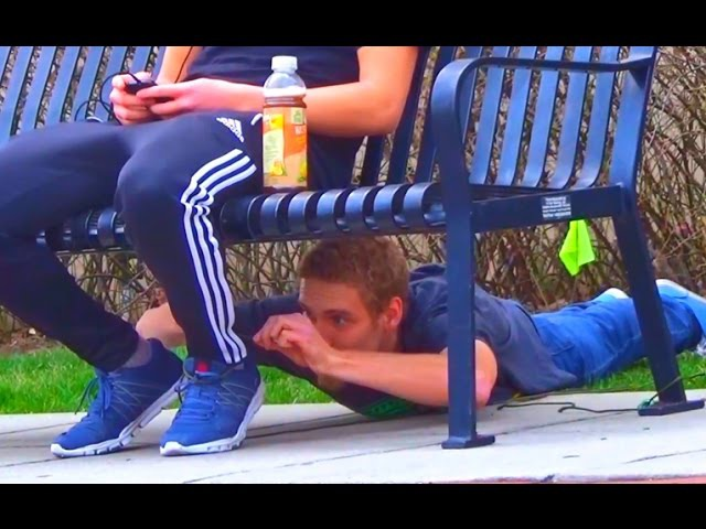 👑 Tying People To Benches and Stealing their Stuff Prank