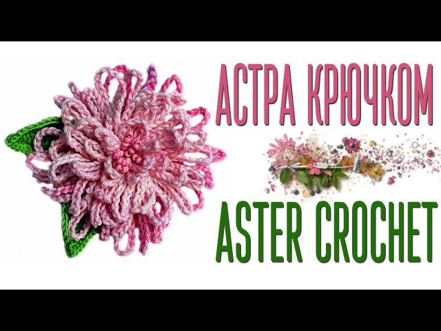 Вяжем цветок Астра крючком по схеме. How to crochet the Aster flowerdiagram.