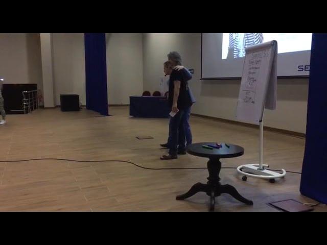 Награждение Олега Акинцева на конференции в Сочи