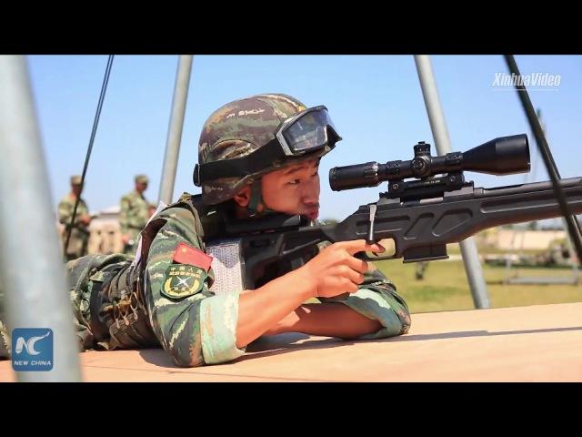 Armed police anti-terror training in Jiangxi, China
