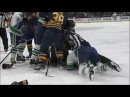 Burrows gets rough with Lehner, then gets tackled by Falk
