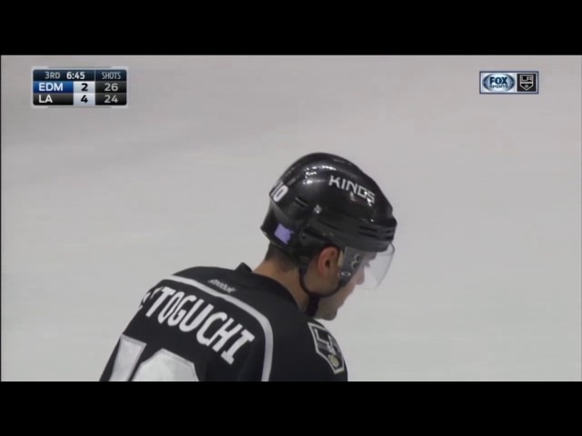 Devin Setoguchi Scores on Jonas Gustavsson | Kings Lead Oilers 4-2