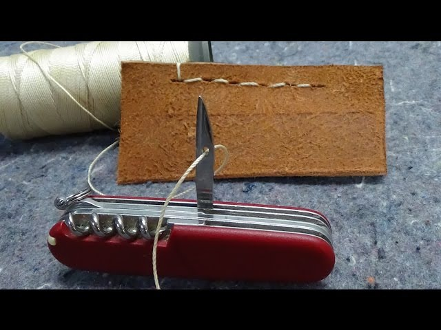 How to Sew with a Swiss Army Knife Awl Reamer