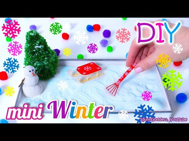 How To Make A Miniature Winter Zen Garden – DIY Stress-Relieving Desk Decoration