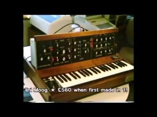 Dr Robert Moog demonstrating the Minimoog