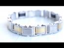 Двухсторонний стальной браслет для мужчин