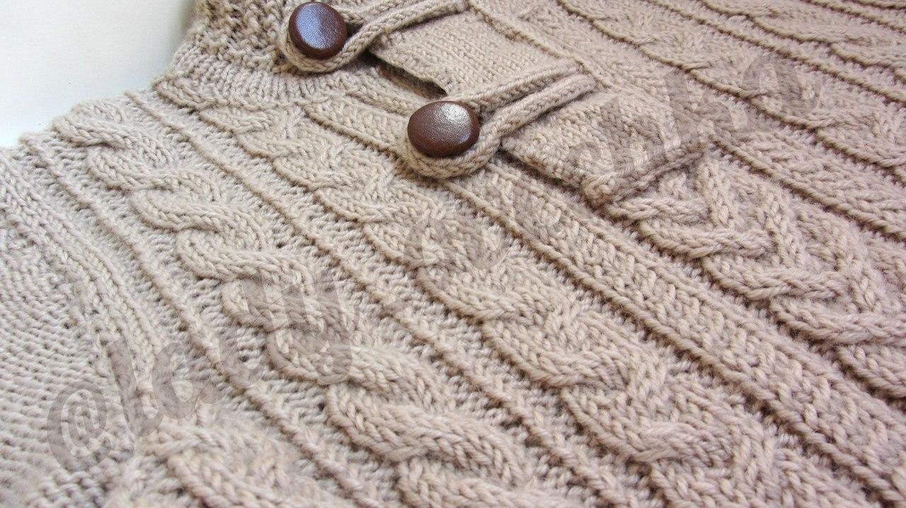 Связать свитер GAP из 100% шерсти с косами и аранами