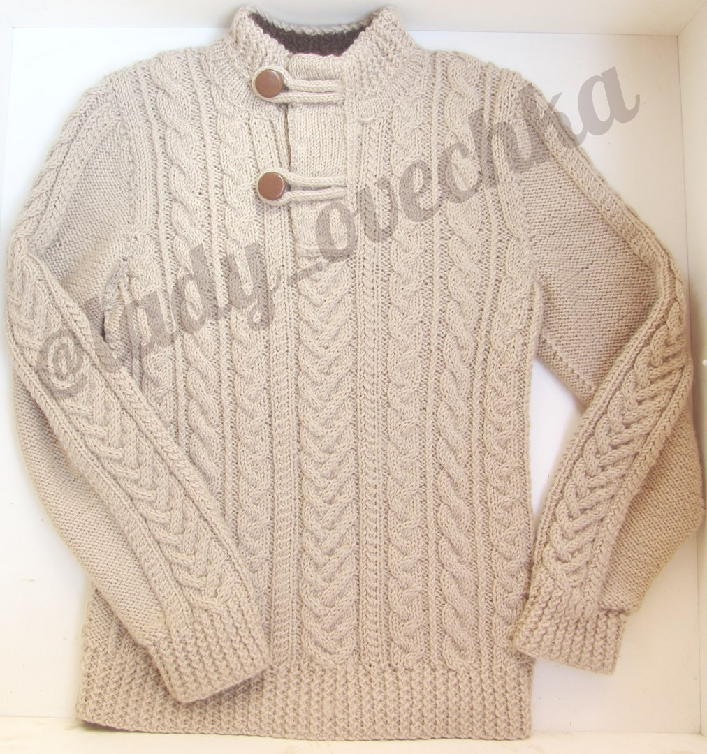 Вязаный свитер GAP с косами и аранами