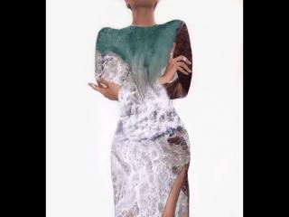 Платье с настроением морского прибоя