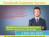 Get Technical Help By Facebook Customer Service 1-850-361-8504 Instantly.