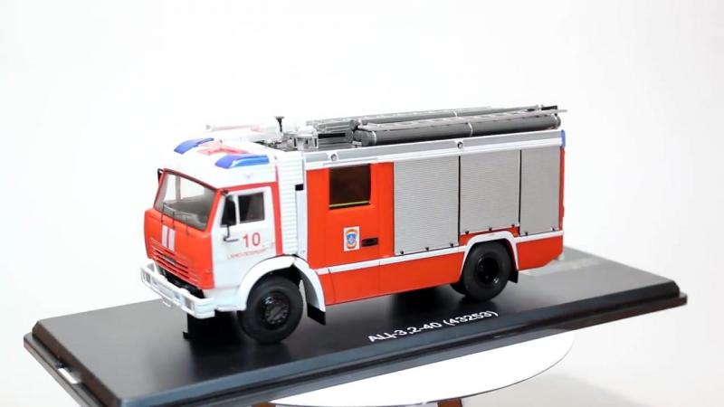 Модель пожарного автомобиля Камаз-43253 АЦ-3,2-40