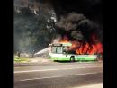 Эффектный пожар на юго-востоке Москвы