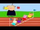 Спортивный День Свинки Пеппы.Бег с Препятствиями.После Забега Готовим Морожено ...