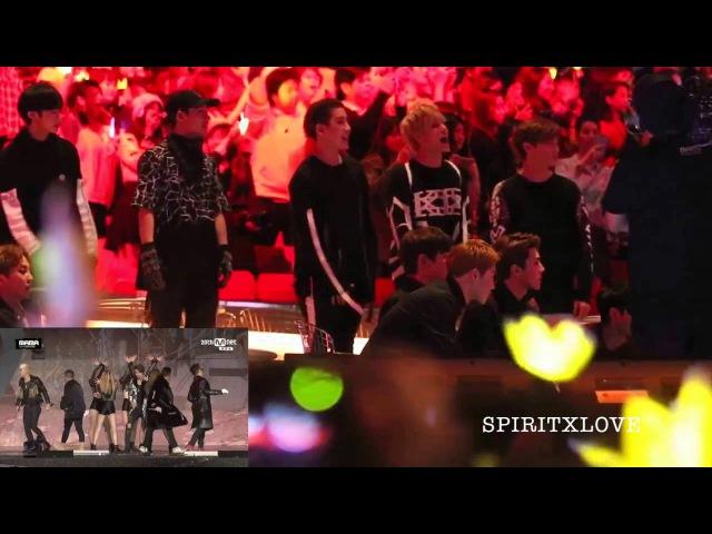 Monsta X ft. EXO Reaction to Bigbang [MAMA] 2015 Fancam Part 3
