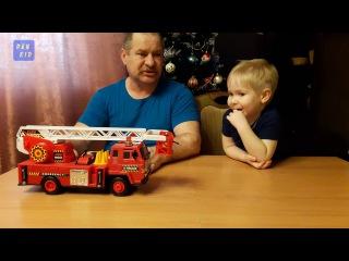 Большие машинки СПЕЦТЕХНИКА Пожарная машина Тушим пожар Веселое видео для дете...