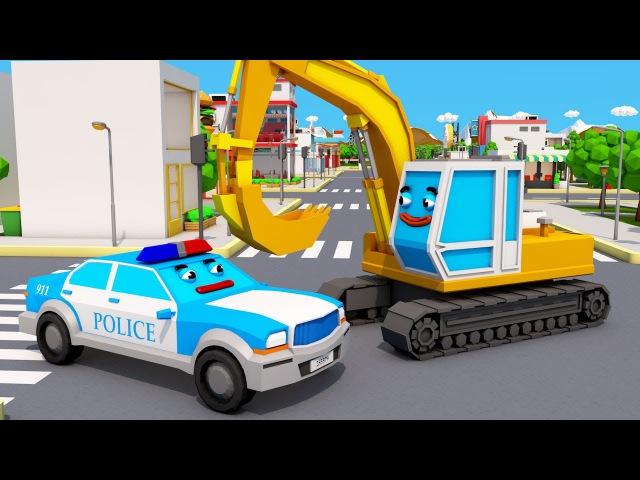 Policja i Mała Wyścigówka Bajki Dla Dzieci po polsku Auta Chase Dzieci Kreskówki