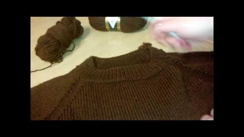 Мужской пуловер из Alize lanagold classic регланом сверху Часть 1 расчеты начало процесса