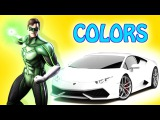BAD SPIDERMAN HITS AND RUN! SUPERHEROES DRIVING CARS AND FLYING. Learn Colors for kids