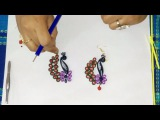 30. How to make a Quilling Peacock Earring