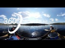 BIG ALGONQUIN CANOE TRIP 360° VR VIDEO DAY 2 QUIET RIVER PADDLING AND BEACH SUNSET 4K