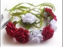 DIY Лента в косу Канзаши, трансформер 4 в одном /Ribbon in braid Kanzashi