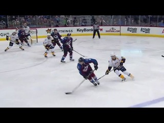 Tyson Barrie spins and sets up Grigorenko's nice goal 11/29/16
